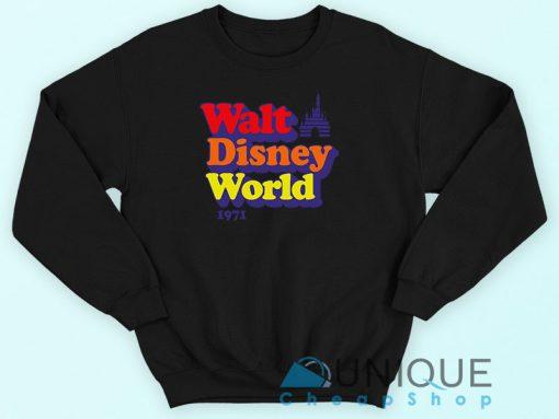 Vintage Walt Disney World 1971 Sweatshirt Black