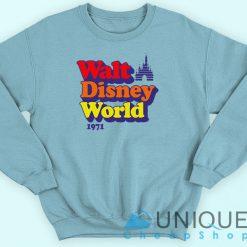 Vintage Walt Disney World 1971 Sweatshirt Blue