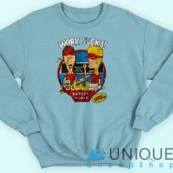 Beavis and Butthead - Work Sucks Sweatshirt Blue