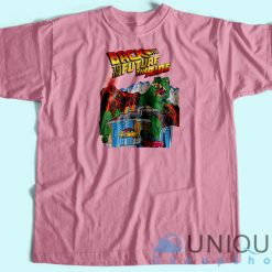 Back To The Future Universal Studio Unique Cheap T-shirt Pink
