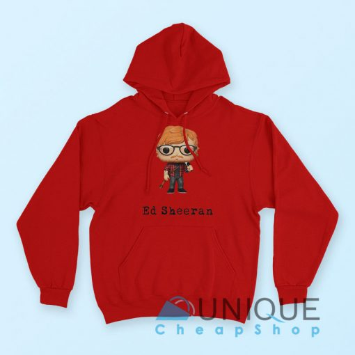 Ed Sheeran Hoodie Red Color Hoodie