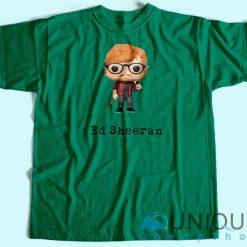 Ed Sheeran Cartoon T-Shirt Green