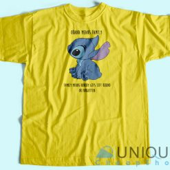 Ohana Means Family T-Shirt Yellow