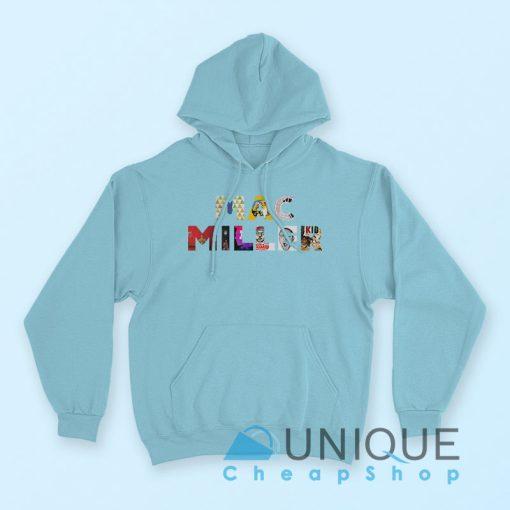 Mac Miller Font Hoodie Blue Color Hoodie