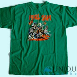 Pearl Jam Halloween T-Shirt Green Color