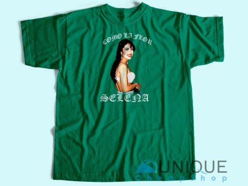 Selena Como La Flor Vintage T-shirt Green