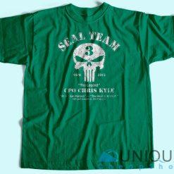 Chris Kyle Seal Team T-Shirt Green