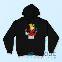 Gangsta Bart Simpson Supreme Hoodie Black