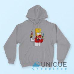 Gangsta Bart Simpson Supreme Hoodie Grey