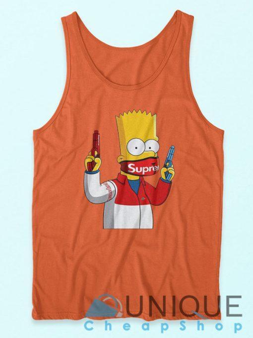 Bart Simpson Gang Supreme Tank Top Orange
