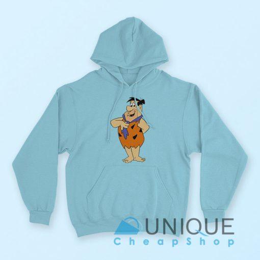 Fred Flintstone Hoodie Light Blue