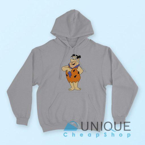 Fred Flintstone Hoodie Grey