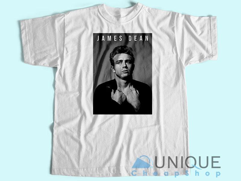 James Dean The Legend T-Shirt Unisex Tee Shirt Printing Size S-3XL