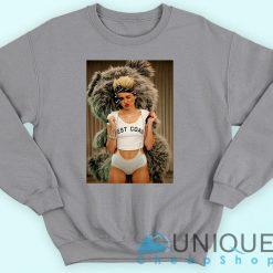 Miley Cyrus Bear Backpack Sweatshirt