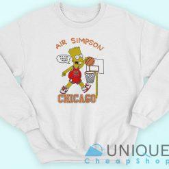 Air Bart Simpson Chicago Bulls Sweatshirt