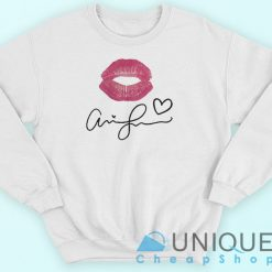 Ariana Grande Kiss And Signature Sweatshirt