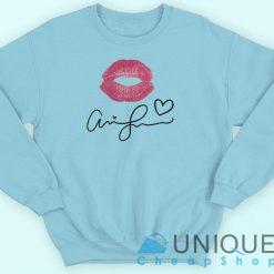 Ariana Grande Kiss And Signature Sweatshirt