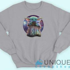Baby Yoda Galaxy Sweatshirt