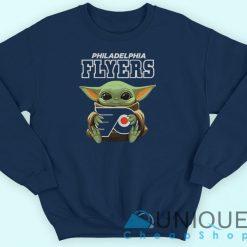 Baby Yoda Philadelphia Flyers Sweatshirt