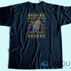 Donald Trump Ugly Christmas T-Shirt Navy