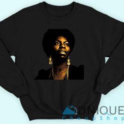 Nina Simone The Jazz Singing Legend Sweatshirt