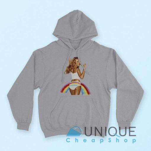 Vintage Mariah Carey Pride Rainbow Hoodie