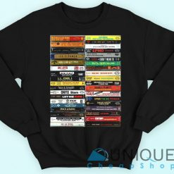 90's Hip Hop Cassette Tapes Sweatshirt