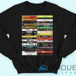 90's Hip Hop Cassette Tapes Sweatshirt