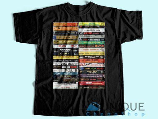 Hip Hop Cassette Tapes Vintage T-Shirt