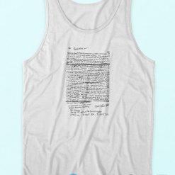 Kurt Cobain Suicide Letter Tank Top