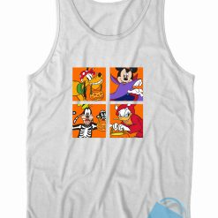Halloween Mickey Friends Costume Tank Top Color White