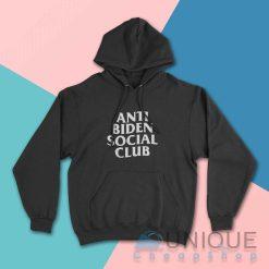 Anti Biden Social Club Hoodie Color Black