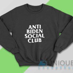 Anti Biden Sociala Club Sweatshirt Color Black