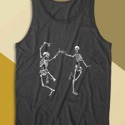 Dancing Skeletons Day of the Dead Halloween Tank Top