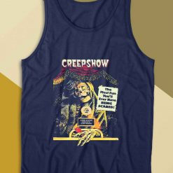Jolting Tales Of Horror Tank Top Color Navy