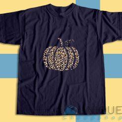 Leopard Pumpkin T-Shirt Color Navy